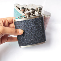 Hip Flask Glitter Drinks Flask for Party Gift