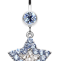 Ultra Dazzle Star Belly Button Ring