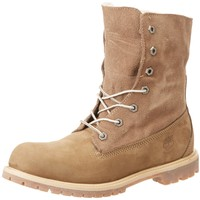 Timberland Women's Teddy Fleece Fold-Down Waterproof Ankle Boot