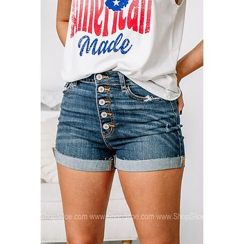 Just Roll With It Cuffed Denim Shorts