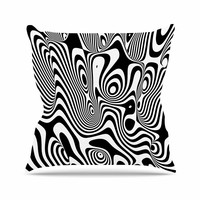 "Danny Ivan ""Trippy"" Black White Throw Pillow"