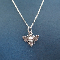 All, Sterling, Silver, Bumblebee, Necklace, Honey, Bee, Bumble, bee, Ncklace, Silver, Jewelry, Dainty, Necklace