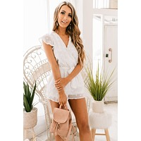 Mind Your Business Polka Dot Romper (White)