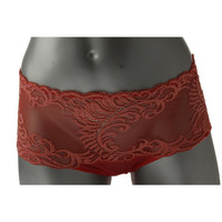 Natori Womens Sheer Lace Trim Brief Panty