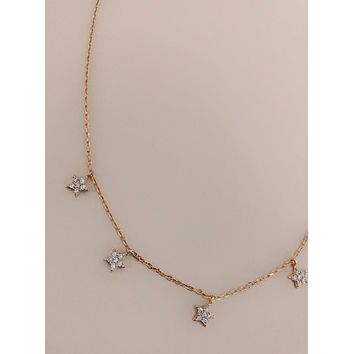 In Alignment Dainty Star Charm Necklace