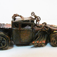 Hot Wheel Roadster Truck Altered by WithAllMyArt on Etsy