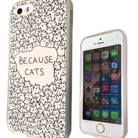iphone 5 5S Because Cats Collage Sketch Multi Cats Cute Design Fashion Trend SILICONE GEL RUBBER CASE COVER