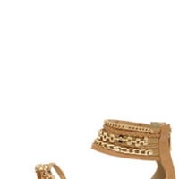 Steve Madden Lawful Tan Multi Ankle Strap Sandals