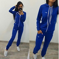 "NIKE Women Fashion ""NIKE"" Hoodie Top Sweater Pants Sweatpants Set Two-Piece Sportswear F"