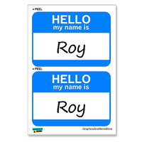 Roy Hello My Name Is - Sheet of 2 Stickers