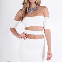 Bandage Me Up Dress - White @ LushFox.com :: Current Fashion Trends & Styles