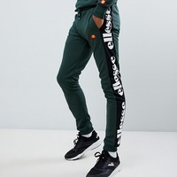 ellesse panel logo joggers in green at asos.com