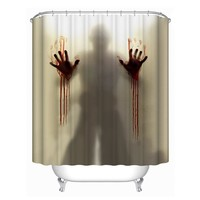 Bloody Hands Shower Curtain