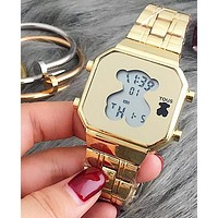TOUS 2018 summer new men and women fashion quartz watch F-YY-ZT Gold