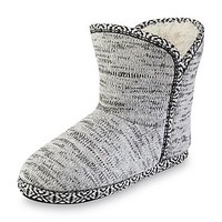 Joe Boxer Women's Marlys White/Black Bootie Slipper - Clothing, Shoes & Jewelry - Shoes - Women's Shoes - Women's Slippers