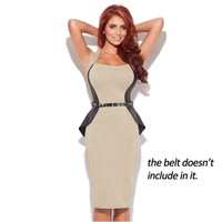 Fashion Women Formal Work Business Optical Illusion slimming Stretch bodycon Business Square Neck Pencil Office Dress BTY240