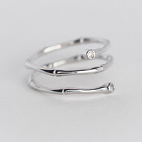 925 sterling silver tree branch ring ,personalized fashion ring,a perfect gift