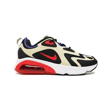 Nike Air Max 200 Team Gold University Red Black