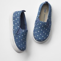 Polka dot slip-on sneakers