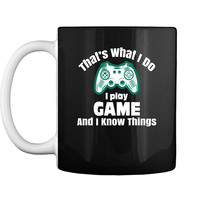 Wild Bobby Thats What I Do I Drink and I Know Things Men GOT Tyrion Graphic Humor Mug