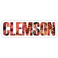 'Clemson' Sticker by Jessica Kleman
