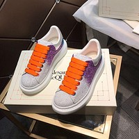 Alexander McQUEEN Men Fashion Boots fashionable Casual leather Breathable Sneakers Running Shoes-77