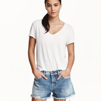Denim shorts Boyfriend low - from H&M