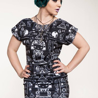 Hello Kitty Pharaoh Kitty Tunic Dress by Japan LA x Tokidoki