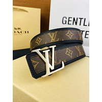 Louis Vuitton  new belt LV letter buckle classic brown old flower letter pattern fashion belt