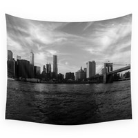 Society6 New York Skyline - Black & White Wall Tapestry