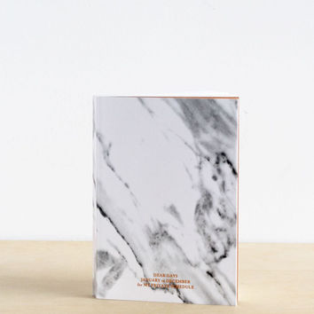Dear Maison Stone Diary | Any Year Planner| White Marble