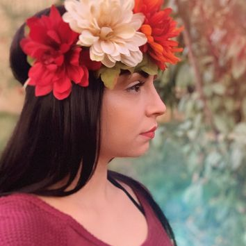 Fall Flower Headband #C1121