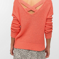 Sparkle & Fade Strappy Cross-Back Sweater