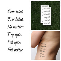 Spectacular - Temporary Tattoo Quote (Set of 2)