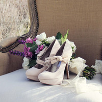 Ancient Lake Lace Heels in Sand