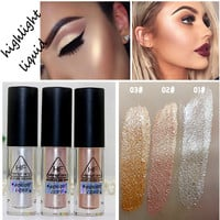 2016 New Brand Makeup Gold Highlighter Liquid Cosmetic Face Contour Brightener Glow Shimmer Liquid Highlighter Makeup Kit