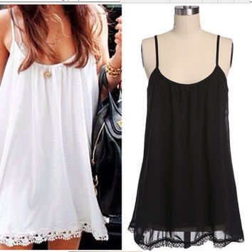 Spaghetti Strap Lace Babydoll Dress