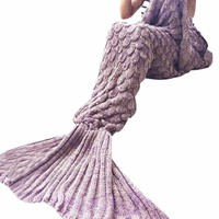 Mermaid Blanket Asst. Colors 70x190