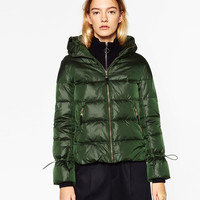 QUILTED ANORAK WITH HOOD DETAILS