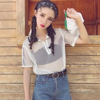 Ulzzang Hollow Out T-shirt