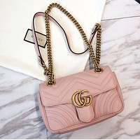 Gucci Classic Hot Sale Women Leather Handbag Crossbody Satchel Shoulder Bag Pink