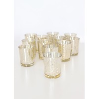 "SALE - Gold Mercury Glass Votive Candle Holder - David Tutera -2.5"" Tall"