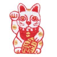 Embroidered Patch Fortune Cat