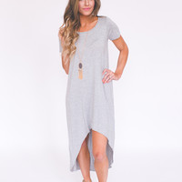 High-Low Dress- Grey
