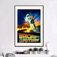 Back To The Future   Canvas Art Print Painting Poster Wall Pictures For Room Decoration Home Decor No Frame Silk Fabric