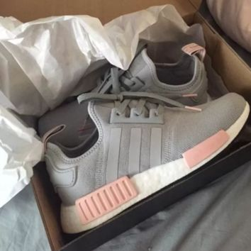 Adidas NMD R1 Clear Onyx/Light Onyx/Vapour Pink BY3058 Boost Sport Running Shoes Classic Casual Shoes Sneakers