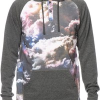 A-Lab Da Unknown Cloud Sublimated Hooded Henley Shirt