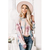You're Plum Perfect Tie Dye Oversized Top