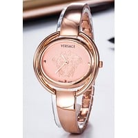 Versace new simple fashion women's waterproof bracelet women's watch Rose gold