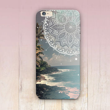 Beach Mandala Phone Case For  - iPhone 6 Case - iPhone 5 Case - iPhone 4 Case - Samsung S4 Case - iPhone 5C - Tough Case - Matte Case